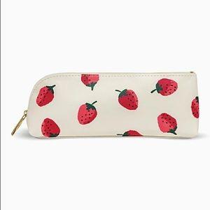 Kate spade strawberry pencil case